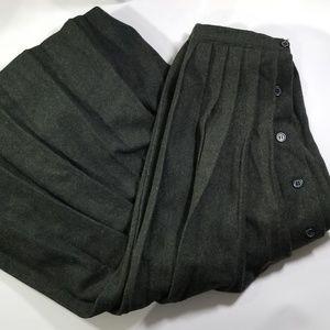 Vintage 100% Wool Maxi skirt pleated size 6